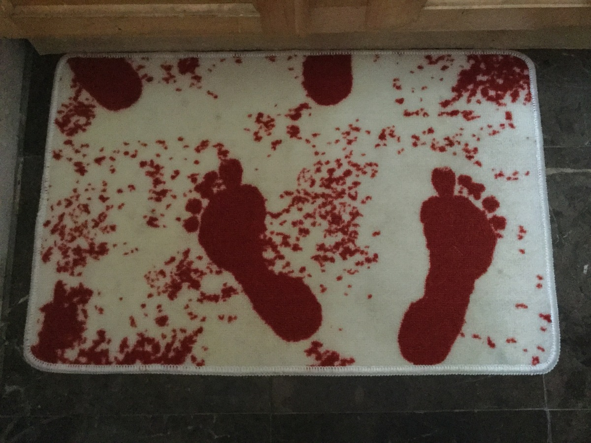 Bloody Bath Mat via NewXshop